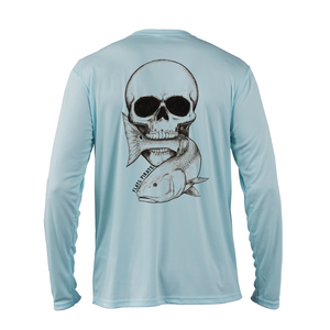 Skull & Redfish Performance Shirt, Blue