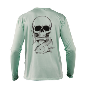 Skull & Redfish Performance Shirt, Seagrass - Flats Pirate Fishing Apparel
