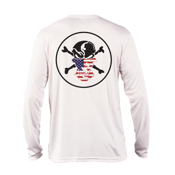 American Flag Buff Performance Shirt - Flats Pirate Fishing Apparel