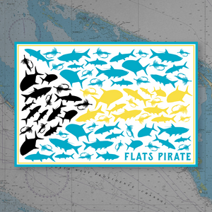Bahamas Fish Flag Sticker - Flats Pirate Fishing Apparel