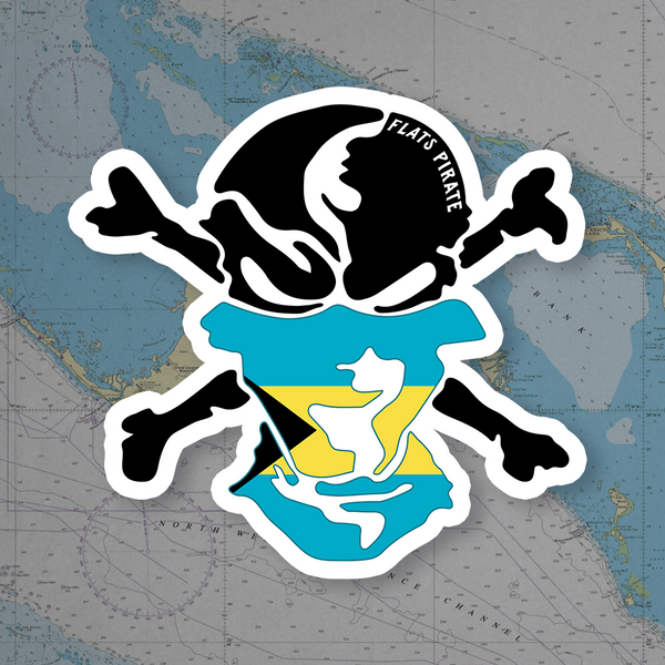 Bahamas Flag Buff Sticker - Flats Pirate Fishing Apparel