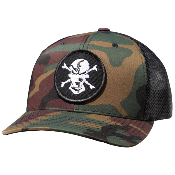 Camo 6 Panel Trucker Hat - Flats Pirate Fishing Apparel