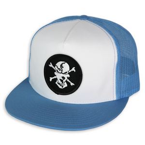Carolina Blue/White 5 Panel Trucker Hat