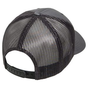 Charcoal 6 Panel Trucker Hat - Flats Pirate Fishing Apparel
