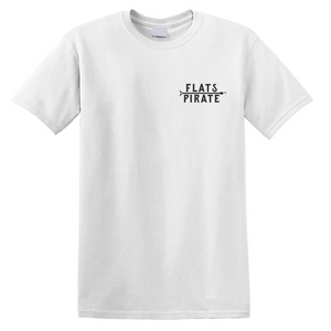 White 'Classic' T-shirt - Flats Pirate Fishing Apparel