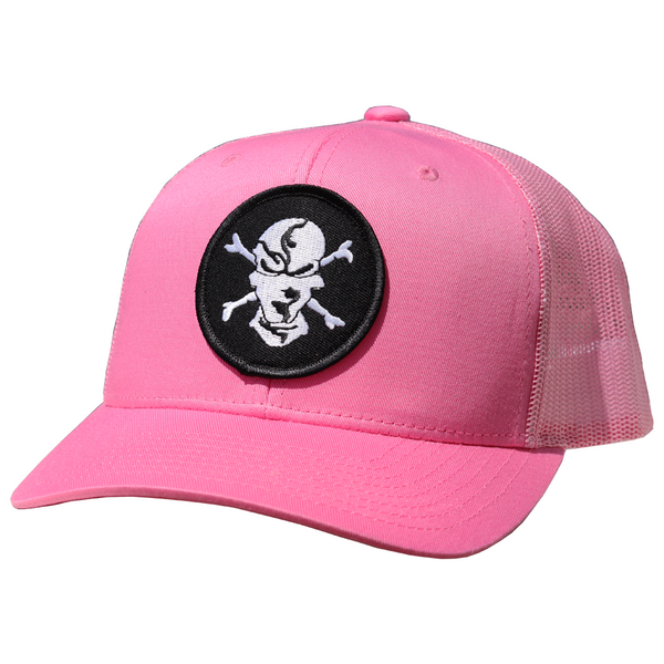 Pink 6 Panel Trucker Hat - Flats Pirate Fishing Apparel