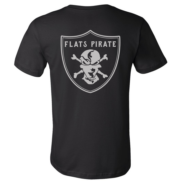 Black 'Raiders' T-shirt - Flats Pirate Fishing Apparel