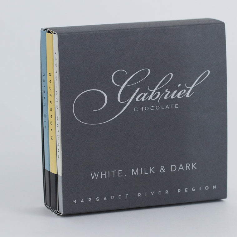 White, Milk & Dark Chocolate  Pack - 3 bars