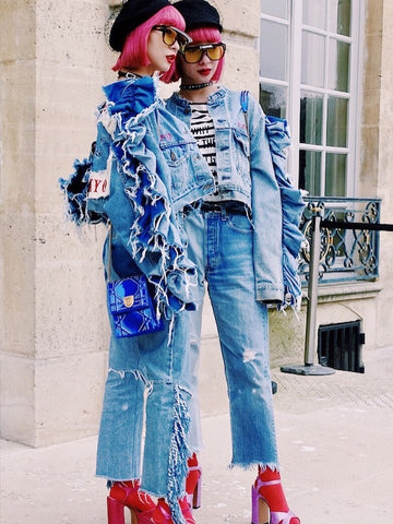 Ami and Aya Suzuki in Dior at Paris Fashion Week 2018