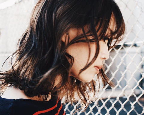 Piece-y lob haircut from Pells Hair Salon in Tokyo