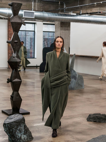 Isamu Noguchi sculptures on the runway of The Row Fall/Winter 21018 Collection at New York Fashion Week