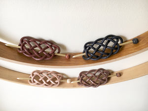New accessories for fall! Woven leather hair slides