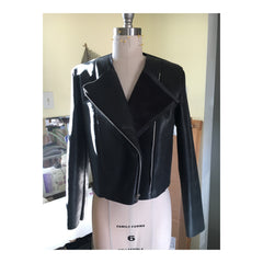 Leather Jacket Sewing Sleeves Front View