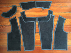 Leather Jacket Front Pattern Pieces Sewing