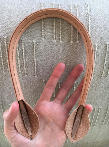 Leather handles pattern template