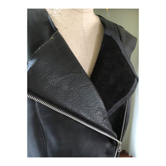 Leather Jacket Front Zipper Sewing