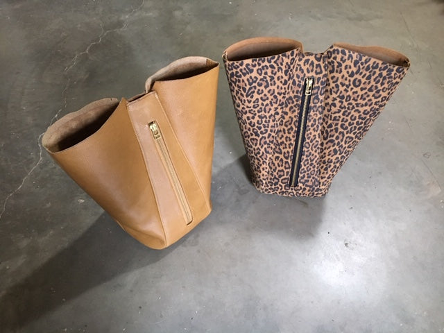 Sewing Leopard Leather Bag