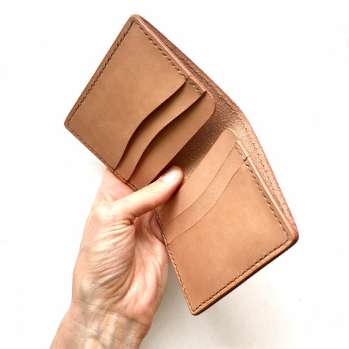 Britta Keenan Unisex Tall Leather Bifold Wallet