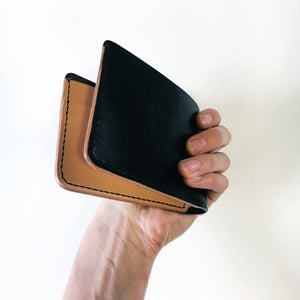 Britta Keenan Unisex Black and Natural Bifold Wallet
