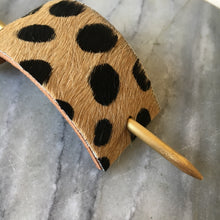 Cheetah Print Leather Hair Accessory