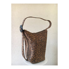 Load image into Gallery viewer, Shoulder Bucket / Sling Bag in Leopard