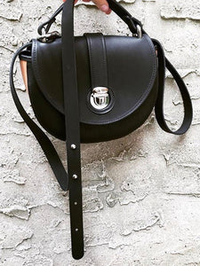 Two Tone Saddle Bag