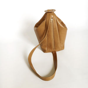 Britta Keenan Leather Sling Bag in Golden Brown or Taupe