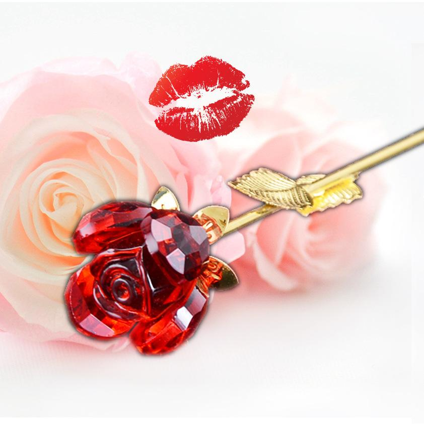 Cheapest and Best Reviews for 24k Gold Plated Crystal Rose  at trendingvip.com