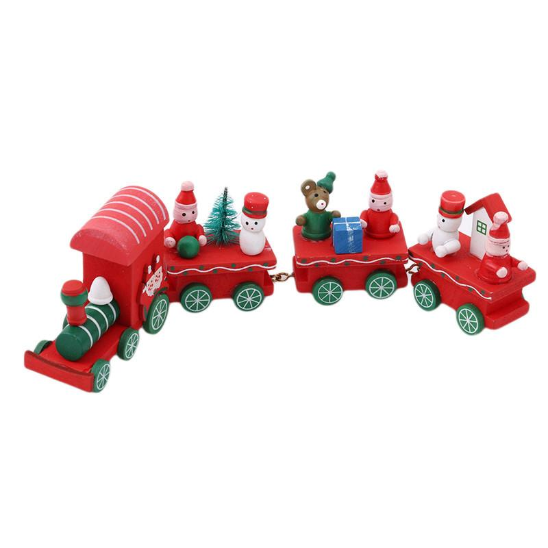 Cheapest and Best Reviews for Mini Christmas Wood Train Decorations Red at trendingvip.com