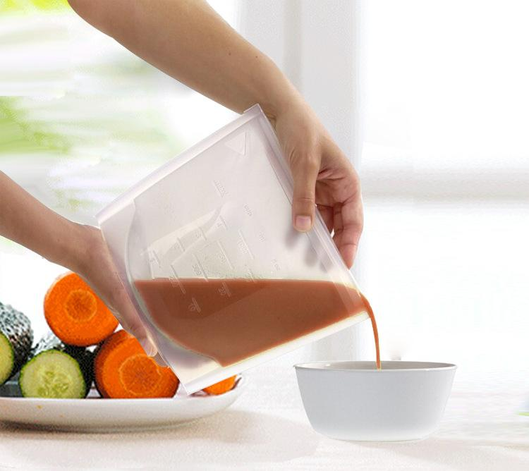 Cheapest and Best Reviews for Reusable Silicone Food Bag Transparent at trendingvip.com