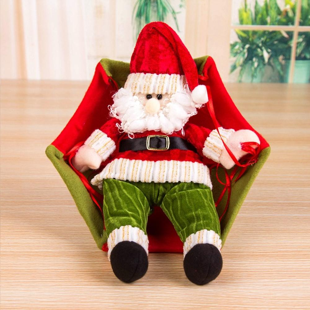 Cheapest and Best Reviews for Hanging Parachute Santa Doll Santa Claus Style / Red / Green at trendingvip.com