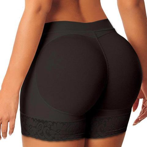 Cheapest and Best Reviews for Buttocks Enhancing Waist Control Shorts Small / Black at trendingvip.com