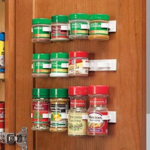 Cheapest and Best Reviews for Multipurpose Stick N Clip Spice Cabinet Organizer(3 Pcs/set)  at trendingvip.com