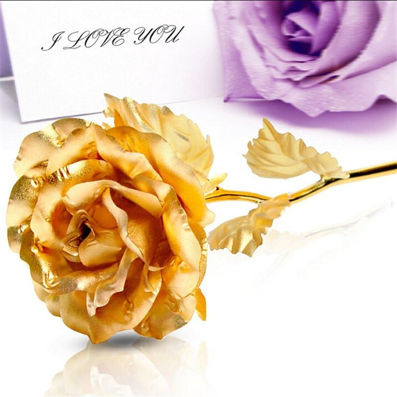 Cheapest and Best Reviews for 24k Gold Foil Rose - With Box  at trendingvip.com