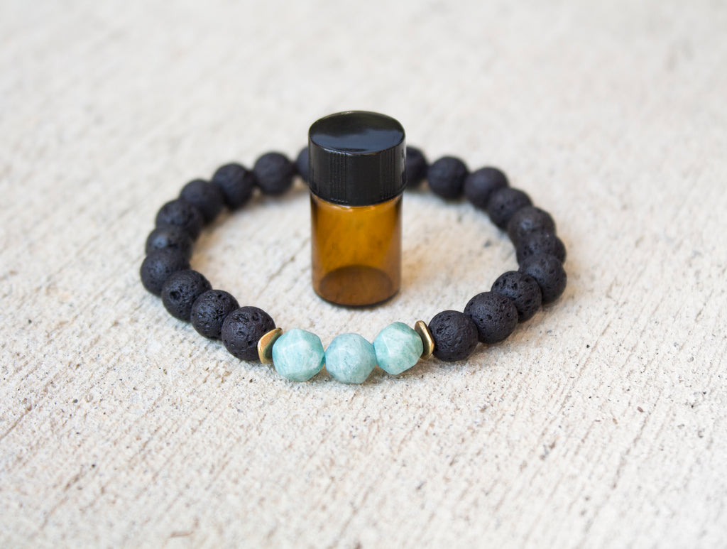 Diffuser Bracelet: Star Cut Amazonite