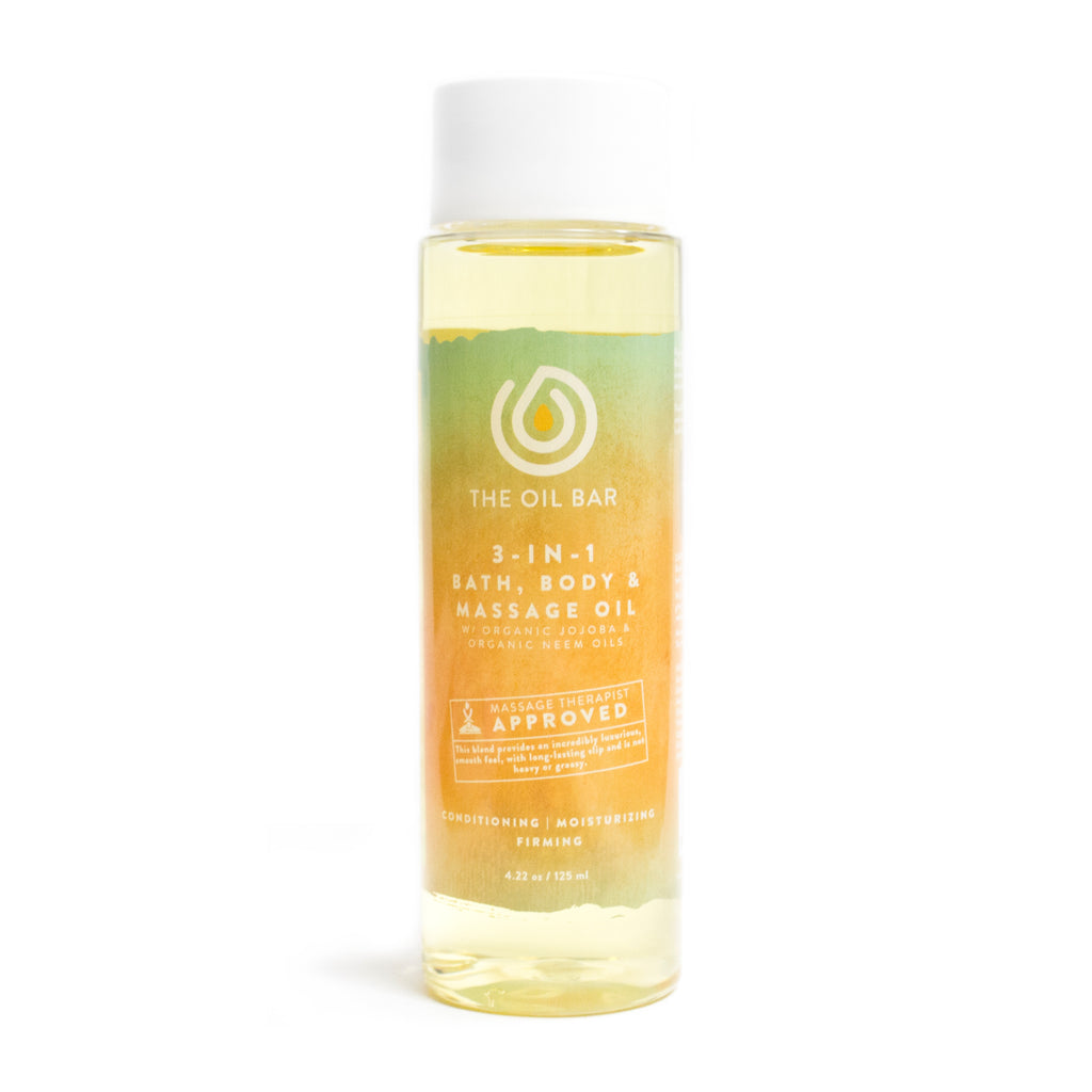 3-in-1 Bath, Body & Massage Oil infused with CBD Oil