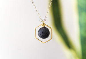 Diffuser Necklace: Hexagon Pendant