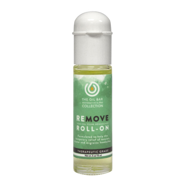 Remove: Tension from headaches Synergy Blend Roll-on
