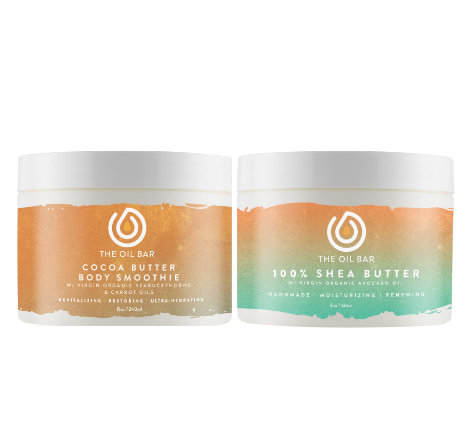 100% Shea Butter & Cocoa Butter Body Smoothie (2 pack)
