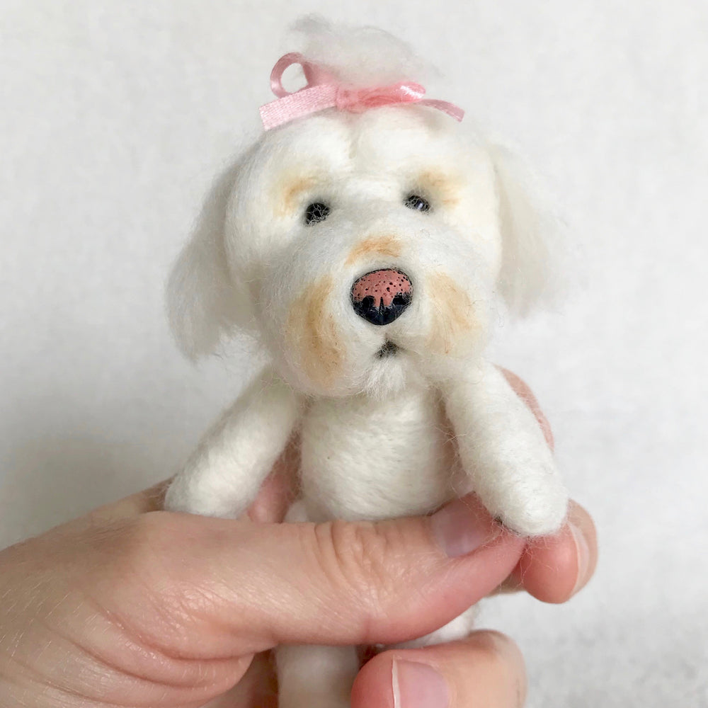 Miniature needle felted dog, miniature needle felted pet