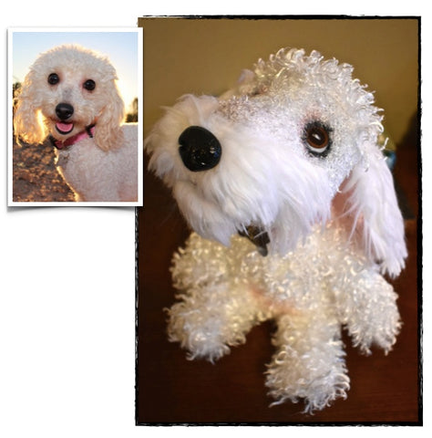 Poodle Stuffed Animal Plush Dog