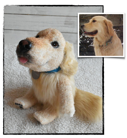 Stuffed Animal Golden Retriever Pet Replica