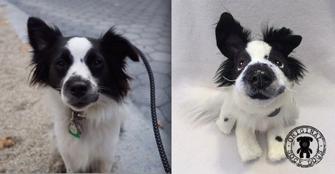 Border Collie Stuffed Animal Plush