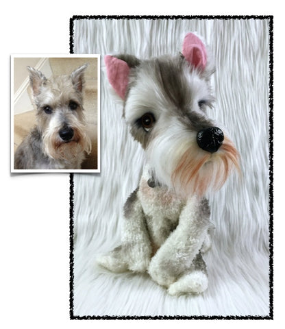 Miniature Schnauzer Stuffed Animal Plush