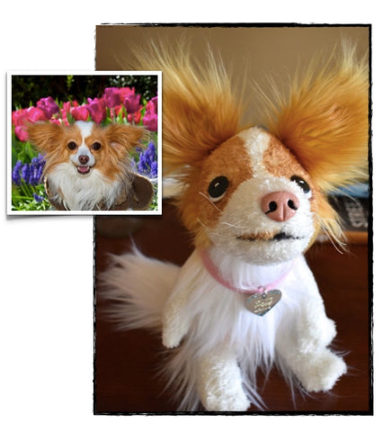 Papillon Stuffed Animal Plush Dog