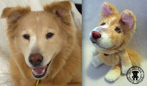 Mixed Breed Chow Dog Stuffed Animal Plush