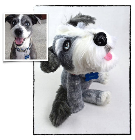 Mixed Breed Terrier Dog Stuffed Animal Plush