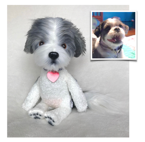 Shih Tzu Stuffed Animal, Custom Shih Tzu, Shih Tzu Pet Replica