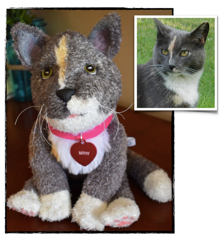Domestic Short Haired Cat Stuffed Animal Plush