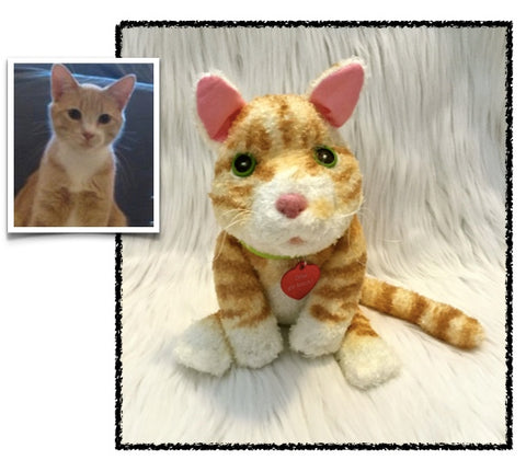 Orange Tabby Cat Stuffed Animal Plush